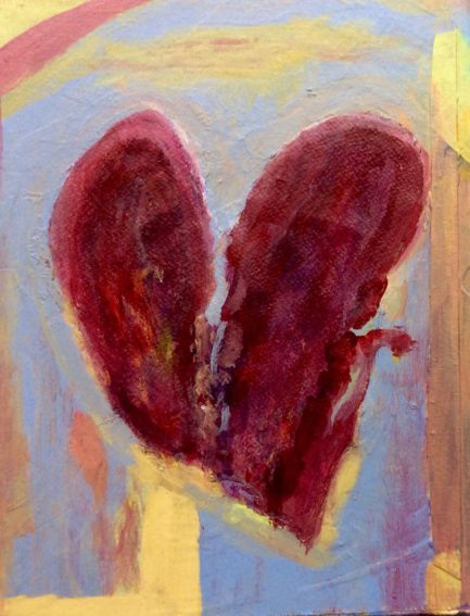 """Heart Mending"" Acrylic Painting by L'Adelaide Scott-Country-Woman-Studio"
